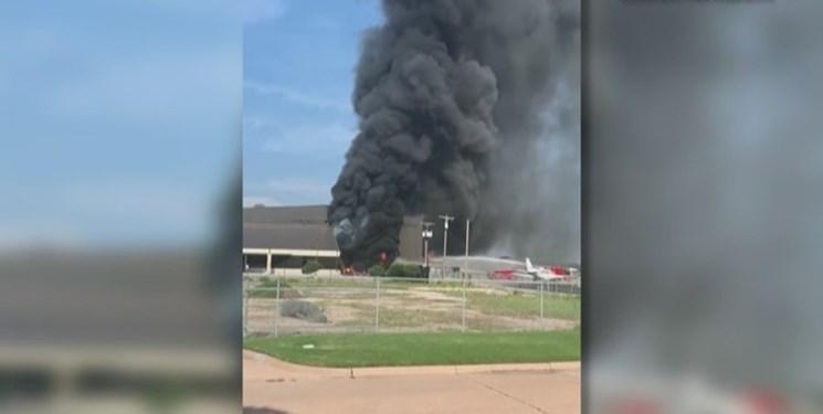 سقوط یک هواپیما در آدیسون در تگزاس 10 کشته برجا گذاشت