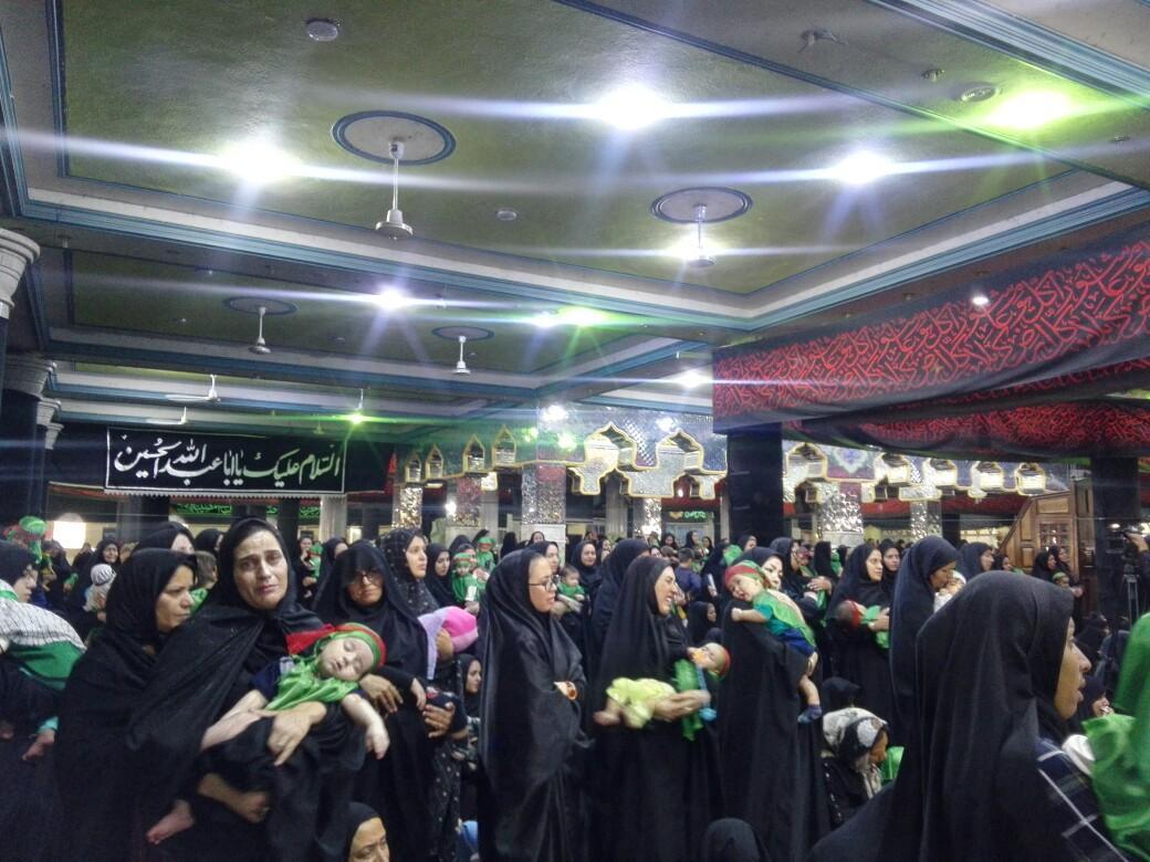 همنوایی مادران کرمانی به یاد کودک شش ماهه دشت کربلا