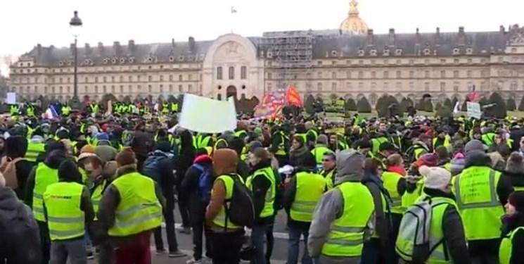 فیلم، شصت وششمین شنبه اعتراضی در فرانسه برگزار گردید