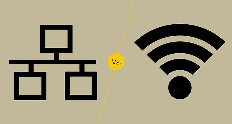 با وای فای یا کابل شبکه به مودم وصل شویم؟
