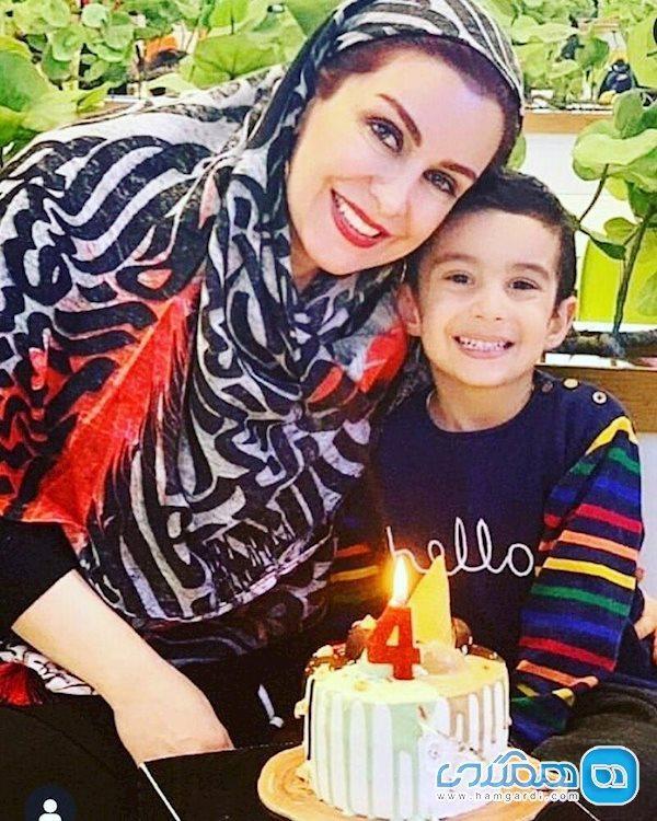 زنده یاد ماه چهره خلیلی در جشن تولد پسرش