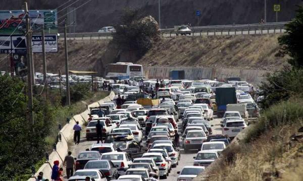 ترافیک نیمه سنگین در 3 جاده منتهی به شمال